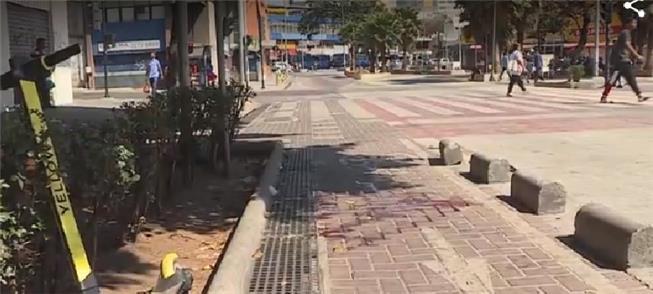 Ciclovia na Av Paraná, separada por blocos de conc