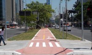 Ciclovia na Avenida Faria Lima