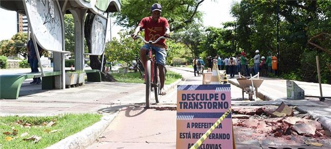 Ciclovias recebem obras de recuperação em Aracaju