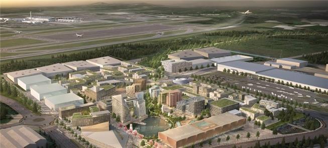 Cidade ocupará área de 370 ha ao lado do aeroporto