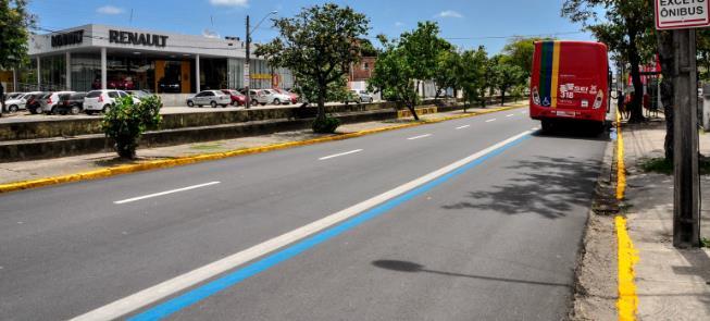 Com a nova rota, Recife terá 58 km de Faixas Azuis