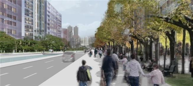 Como seriam os corredores verdes: um exemplo