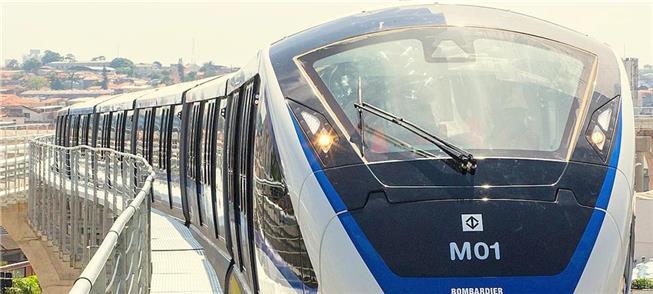 Composição do monotrilho Linha 17 do metrô de São