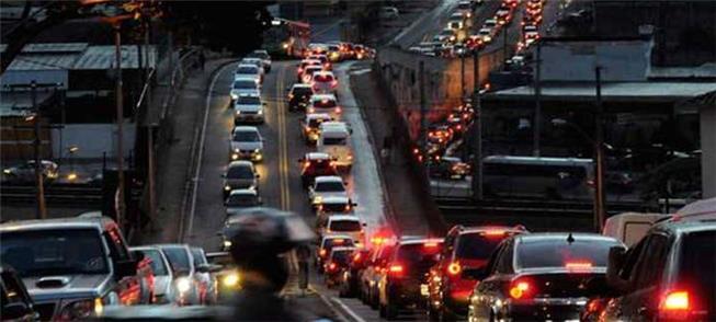 Congestionamento em Belo Horizonte no horário de p