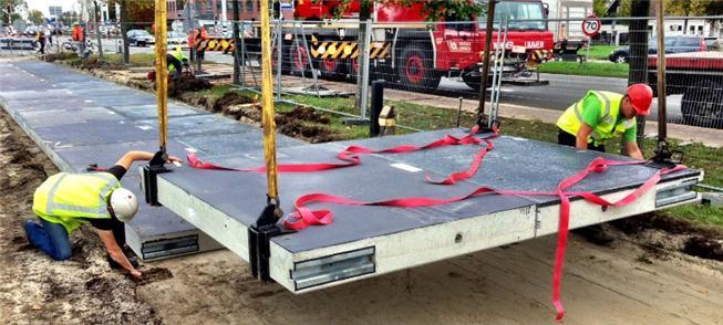 Construção da pista em Krommenie
