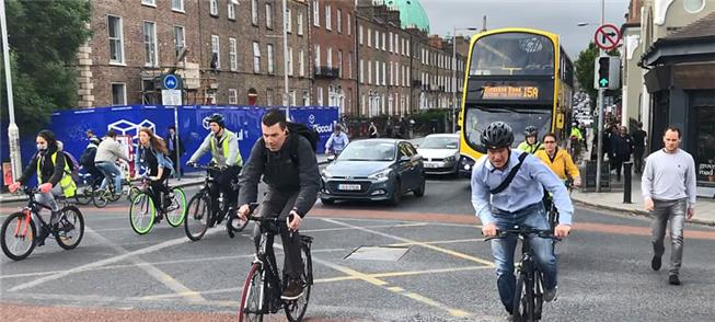 Cyclists in Dublin, during the Velo-City