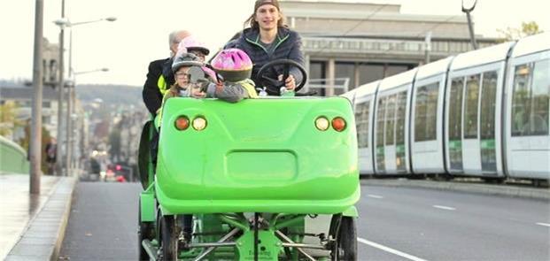 Cyclobus, veículo escolar em Rouen, na França