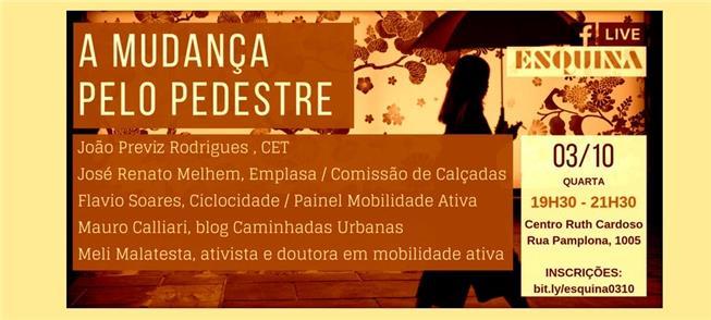 Debate em São Paulo aborda o espaço do pedestre na