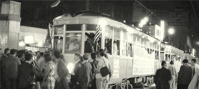 Despedida dos bondes em São Paulo em 27/03/1968