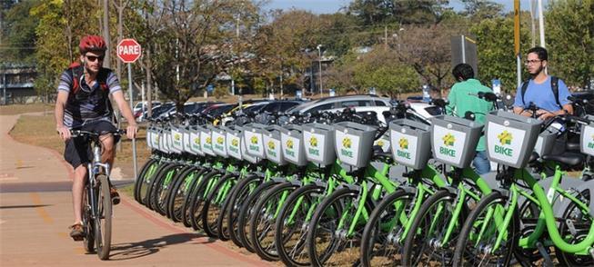 DF passa a ter 45 estações de bicicletas compartil