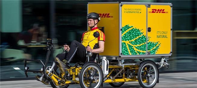 DHL da Holanda adota quadriciclo de carga, a pedal
