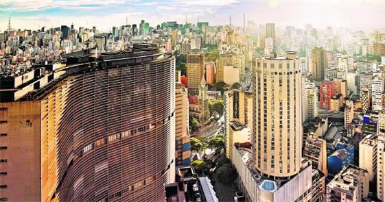 Edifício Copan, no centro da capital paulista