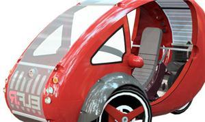 Elf tem três rodas e baterias que podem ser recarr