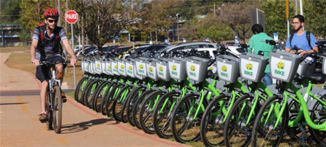 Em 2017, novos pontos de bikes eram abertos no DF
