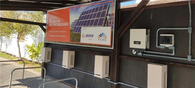 Em Blumenau, um bicicletário fotovoltaico gratuito