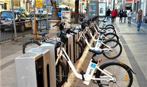 Em Madrid, as bicicletas tem sistema elétrico de a