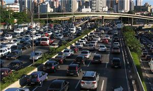 Engarrafamento em São Paulo