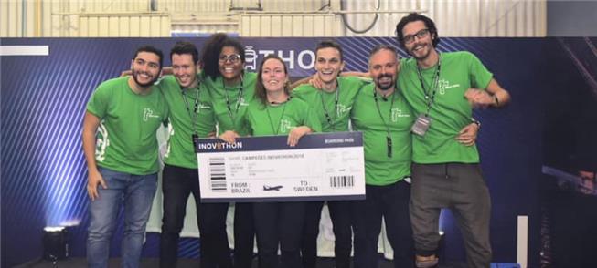 Equipe vencedora da maratona Inovathon 2018 vai à