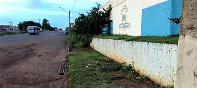 Escola Jorge Amado, na periferia de Palmas: sem ca