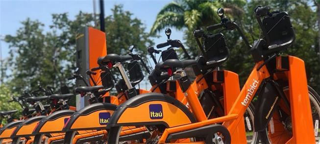 Estação de compartilhamento da Bike Rio