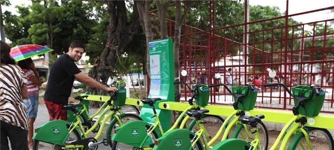 Estação do Bicicletar, com sistema de dados monito