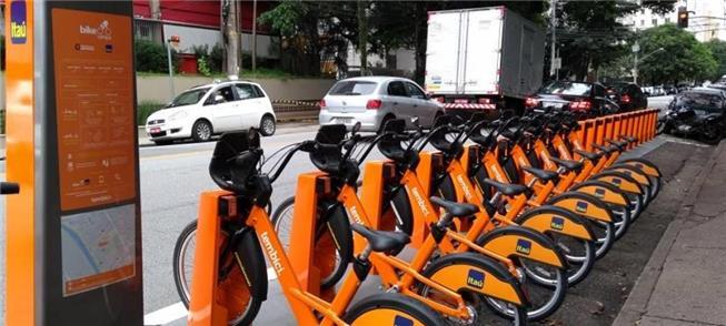Estação do Bike Sampa, na zona sul de São Paulo