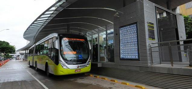 Estação do BRT Move, em Belo Horizonte