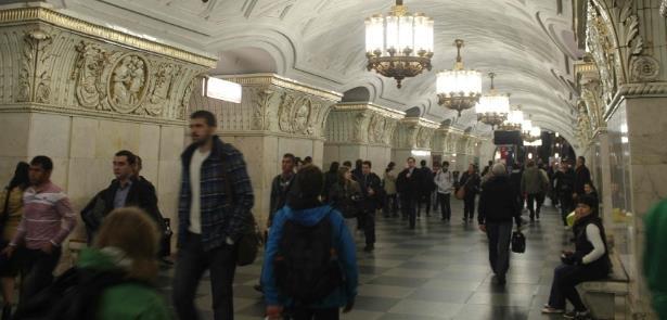 Estação do metrô moscovita parece um museu