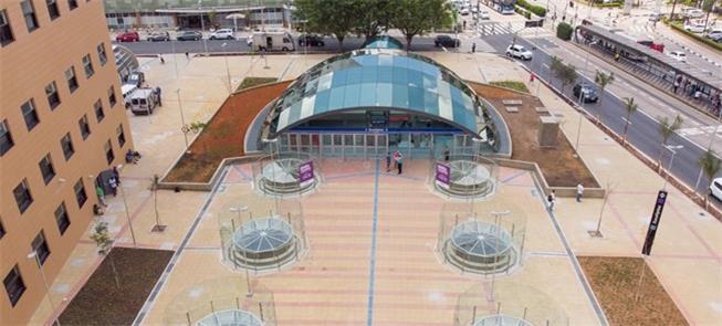 Estação Eucaliptos da Linha 5-Lilás, inaugurada em