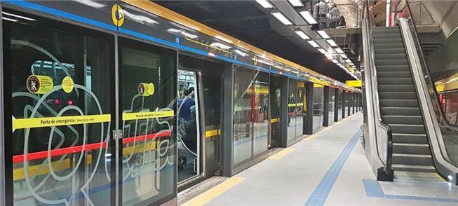 Estação Oscar Freire (Linha 4), que tem portas na
