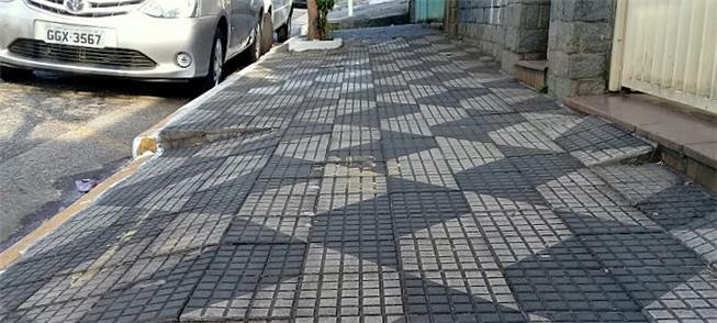 Exemplo de calçada