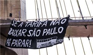 Faixa de manifestação organizada pelo Movimento Pa