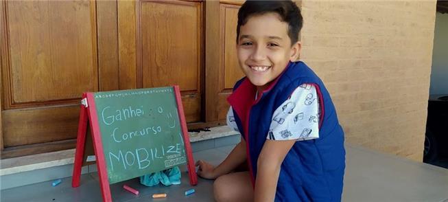 Felipe Vasconcellos, 1º lugar na Categoria Infanti