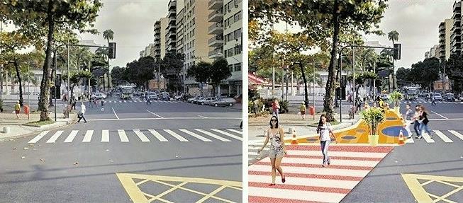 Foto e projeção revelam o antes e depois da interv