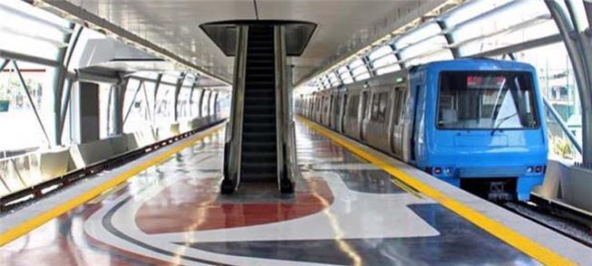 Foto-montagem da Estação Gávea, no Rio