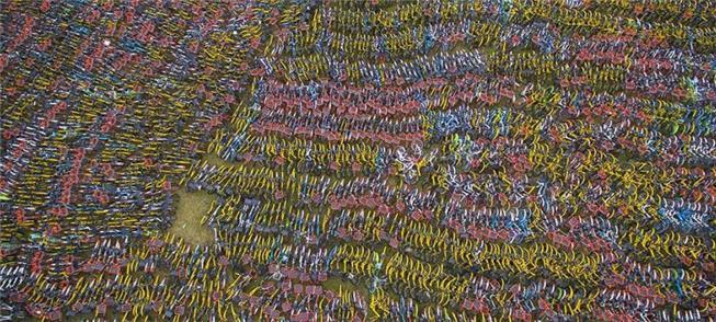 Hangzhou: moradores abandonam mais de 23 mil bicic