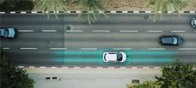 Ilustração de como funcionará a rodovia elétrica n