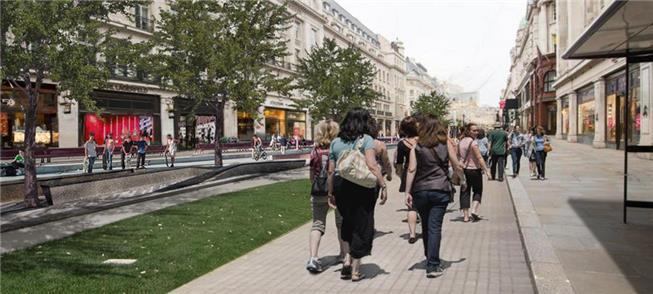 Imagem da futura Regent Street, em Londres