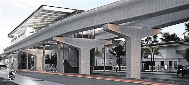 Imagem de projeto do futuro Aeromóvel de Canoas (R