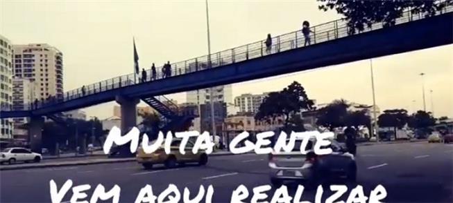Imagem do vídeo do Caminha Rio sobre 'passarela cr