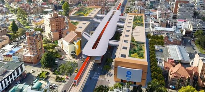Imagem ilustrativa do metrô elevado em Bogotá