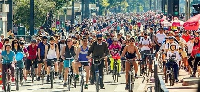 Inauguração da ciclovia na av Paulista