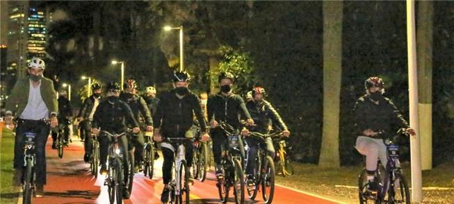 Inauguração da iluminação na ciclovia do rio Pinhe