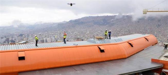 Instalação, com drone, de cabos da nova Linha Lara