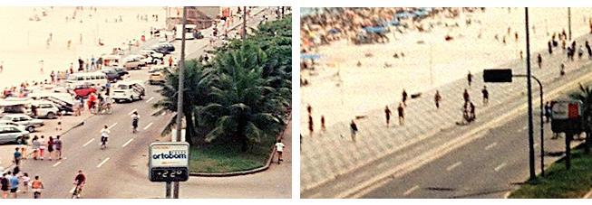 Ipanema, 1991 e 1992: antes e depois da ciclovia