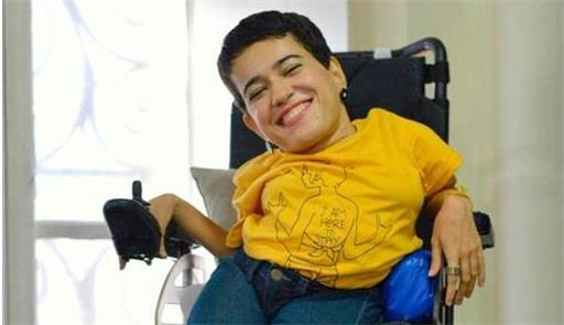 Jessica Pacheco, cadeirante e ativista da Campanha