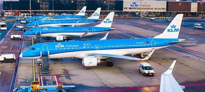 KLM: aviões reservados para usar em viagens intern