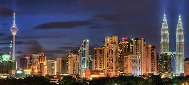 Kuala Lumpur à noite