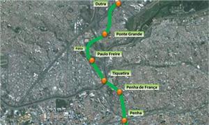 Linha 2-Verde ganhará mais 14,4 km de extensão