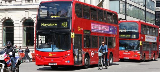 Londres aumenta o tempo dos ônibus em circulação